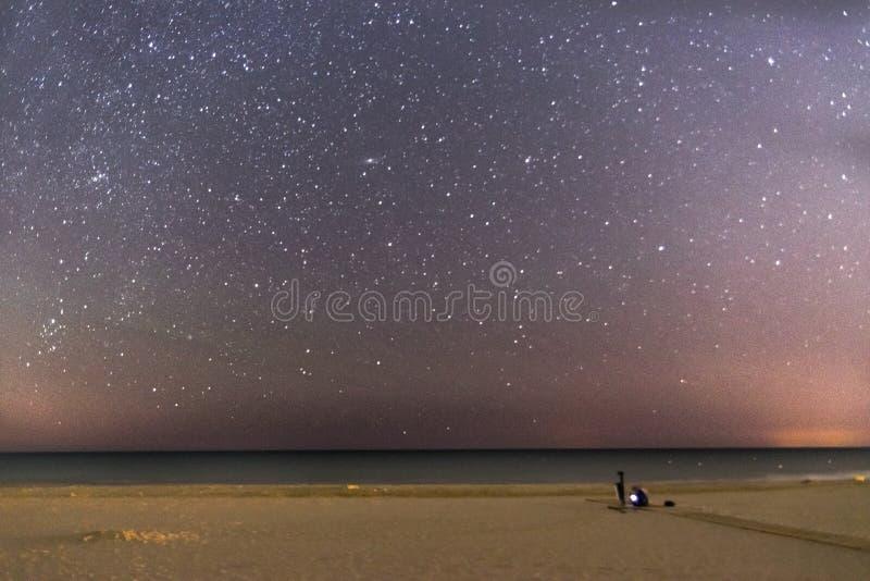 Strand und Sterne stockfotos