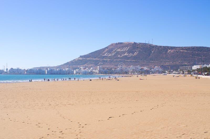 Strand van Agadir, Marokko stock afbeeldingen
