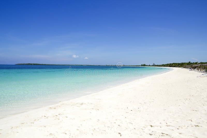 Strand van Cayo Santa Maria. Cuba stock foto