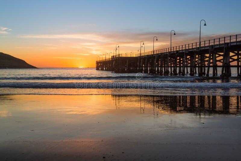 Strand van Coffs-de zonsopgang van Havenaustralië royalty-vrije stock afbeeldingen