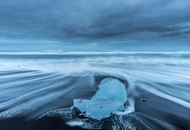 Strand van diamanten in IJsland royalty-vrije stock foto's