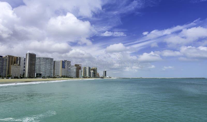 Strand van Fortaleza in Ceara-staat royalty-vrije stock afbeelding
