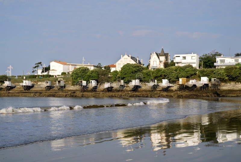 Strand van Heilige Palais in Frankrijk stock afbeeldingen