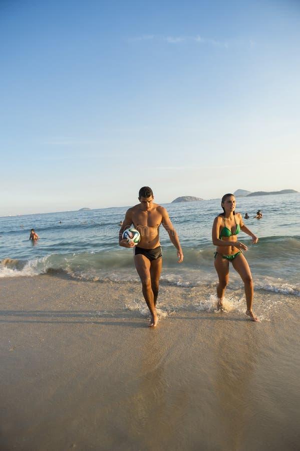 Strand van het Paaripanema van de Carioca het Braziliaanse Voetbal stock fotografie