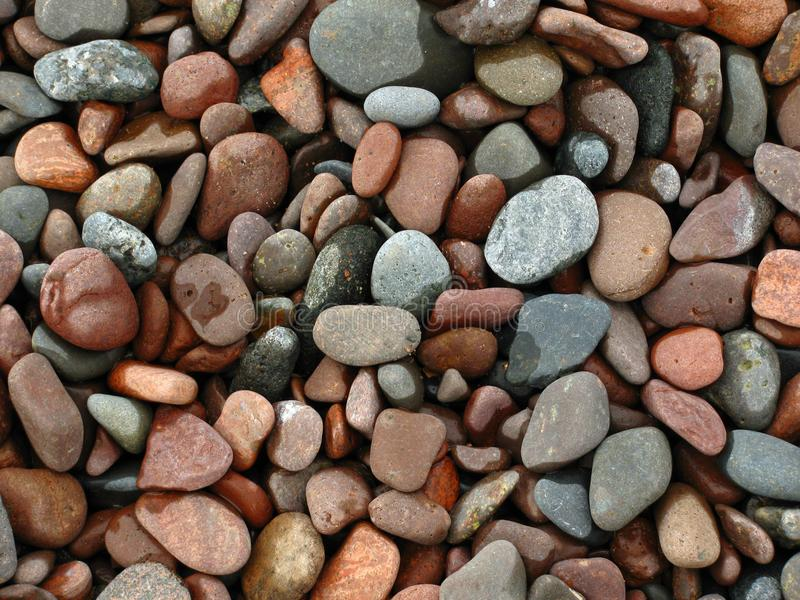 Strand van kiezelstenen stock foto