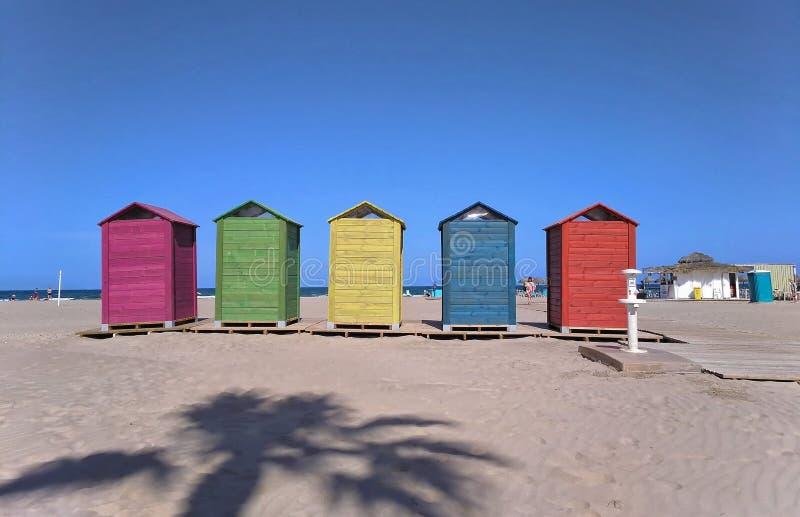 Strand van kleuren stock afbeeldingen