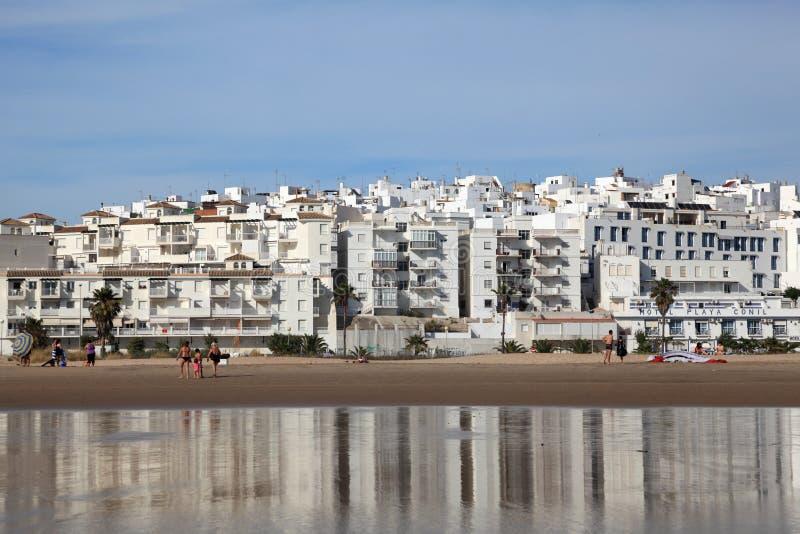 Strand van La Frontera, Spanje van Conil DE stock foto's