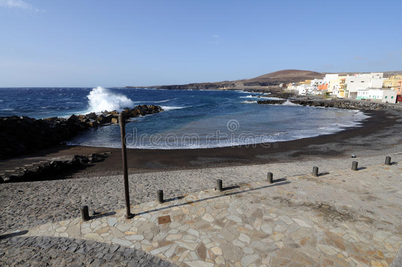 Strand van Las Era's, Tenerife royalty-vrije stock foto