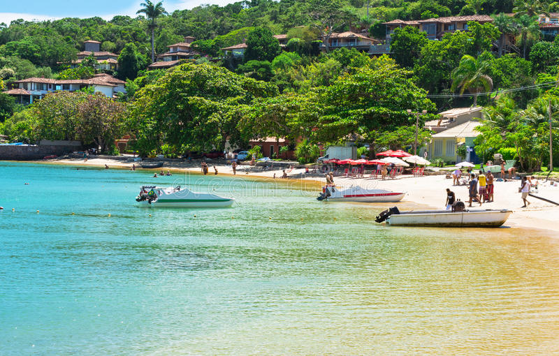 Strand van Ossos in Buzios, Rio de Janeiro stock afbeelding