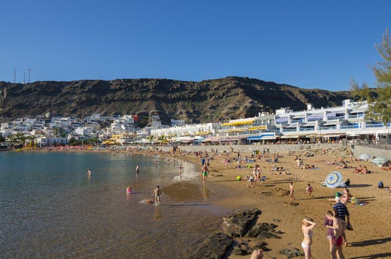 Strand van Puerto DE Mogan royalty-vrije stock fotografie