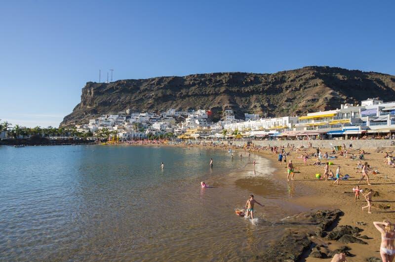 Strand van Puerto DE Mogan stock afbeeldingen