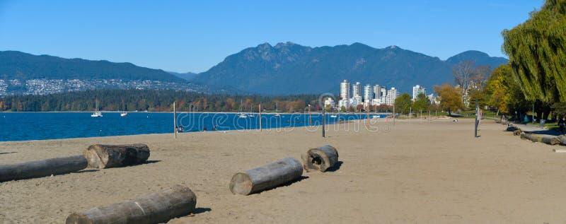 Strand Vancouvers Kitsilano stockbild