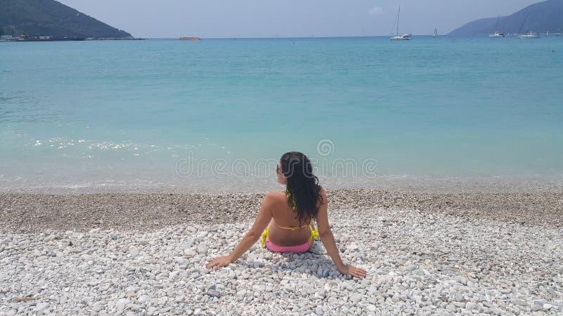 Strand Vasiliki in Griekenland royalty-vrije stock afbeelding