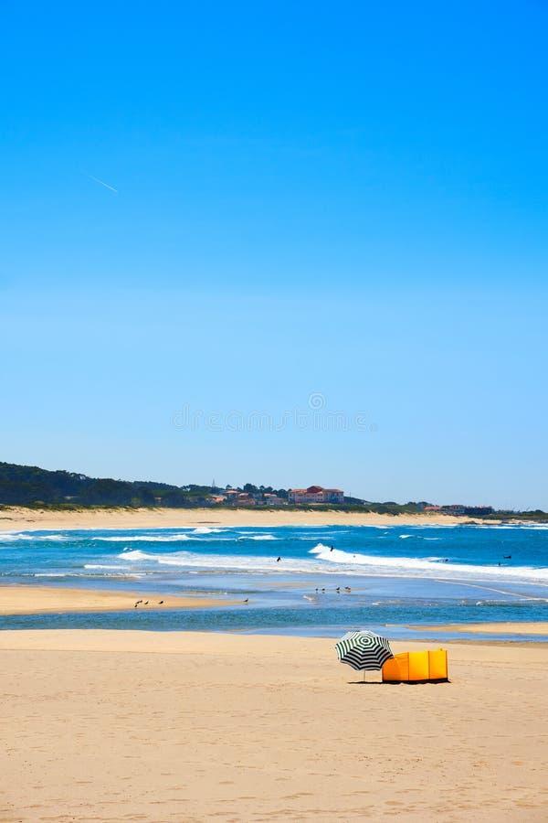 Strand Vila Praia de Ancora arkivfoton