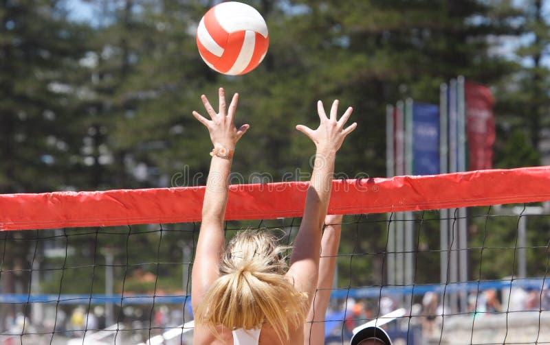 Strand-Volleyball stockfoto