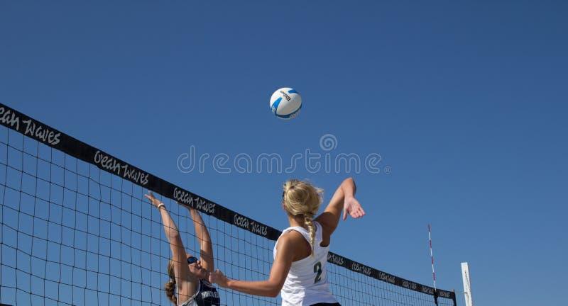 Strand-Volleyball stockfotos