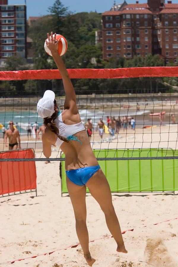 Strand-Volleyball stockbilder