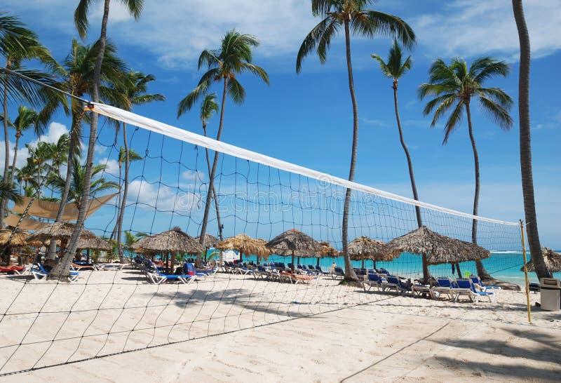 Strand-Volleyball-Netz lizenzfreie stockfotografie