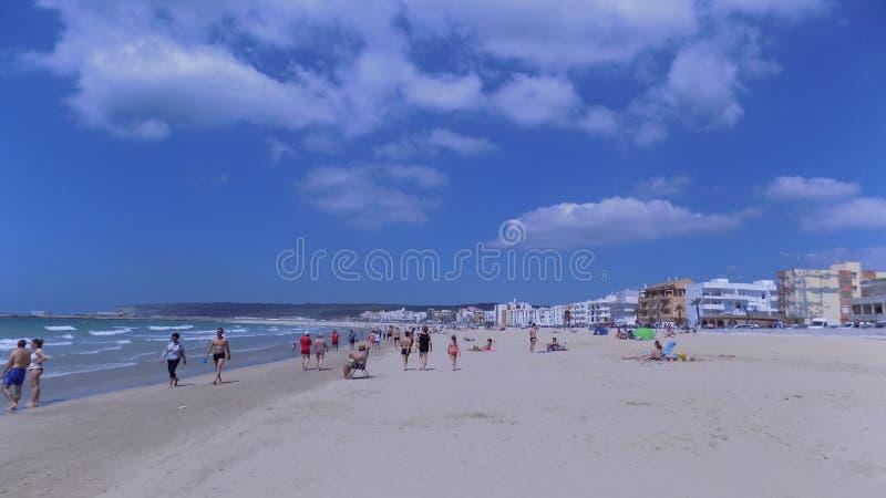 Strand Von-Barbate-Cadizspanien lizenzfreies stockfoto