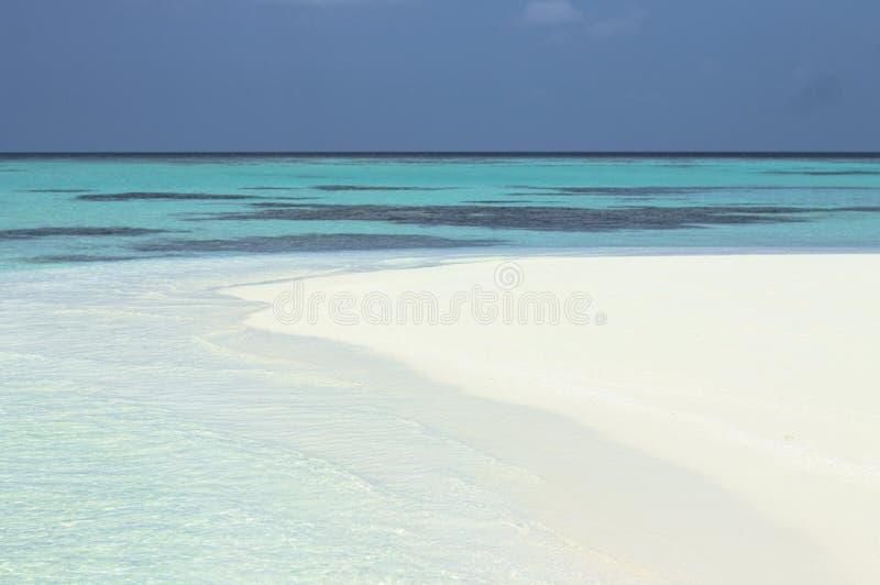 Strand von einer einsamen Insel stockfoto