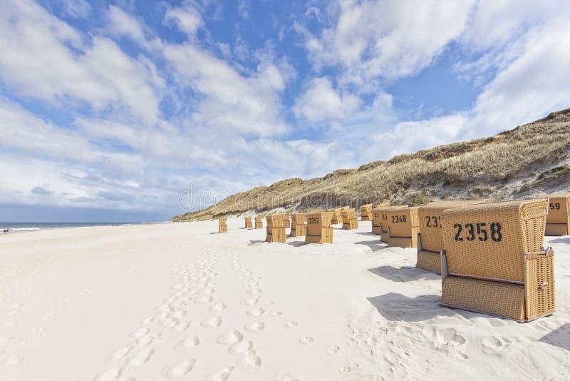 Strand von Kampen, Nordseeinsel von Sylt stockfoto
