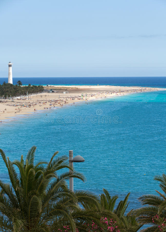 Strand von Morro Jable, Kanarische Insel Fuerteventura, lizenzfreie stockfotografie