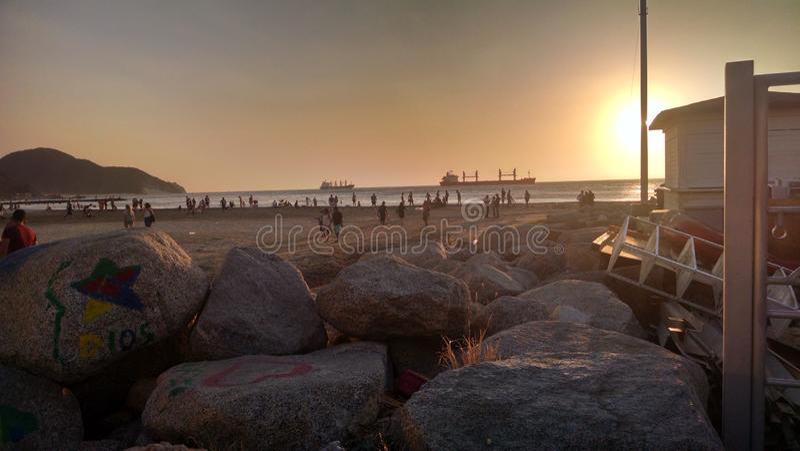 Strand von Santa Marta stockfoto
