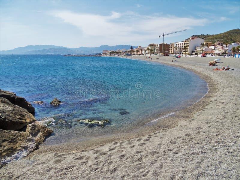 Strand von Torrenueva-en Motril Granada Andalusien Spanien lizenzfreie stockfotos