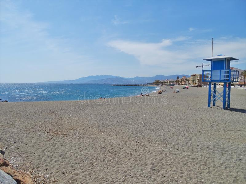 Strand von Torrenueva-en Motril Granada Andalusien Spanien lizenzfreies stockfoto