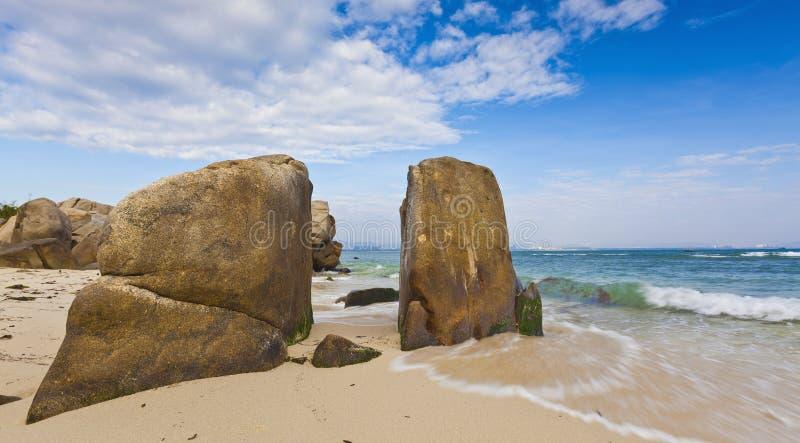 Strand von wuzhizhou Insel in Sanya Hainan stockfotos
