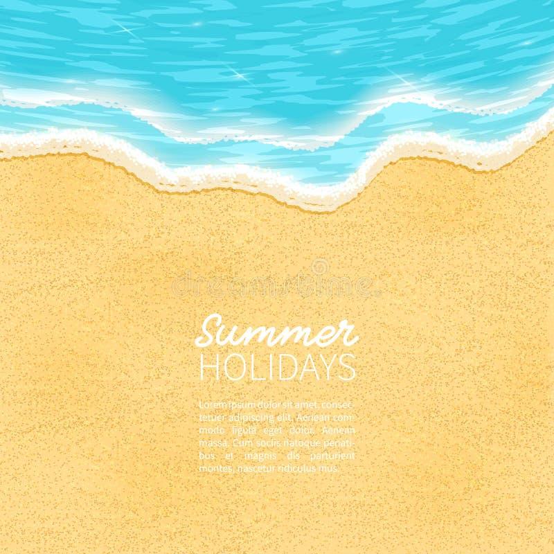 Strand, zand, overzees, vector illustratie