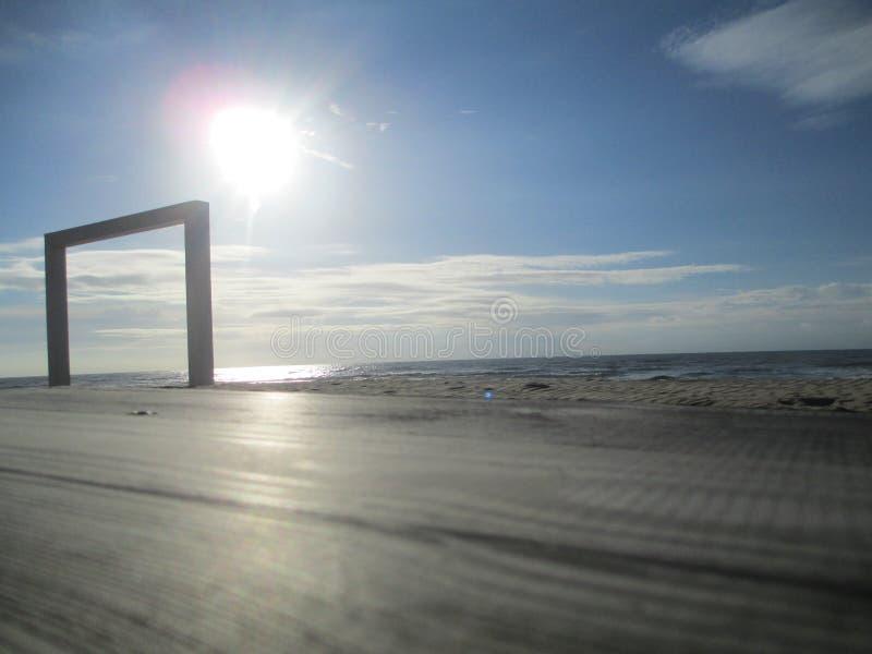 Strand, Zandvoort, die Niederlande lizenzfreie stockfotografie