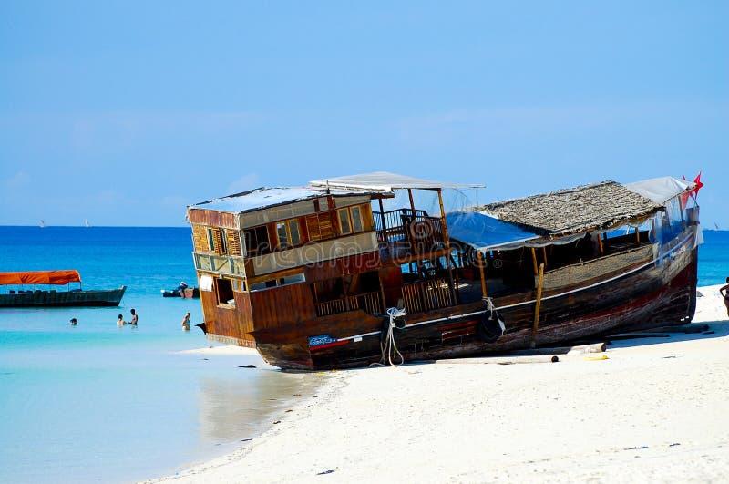 strand zanzibar royaltyfri fotografi