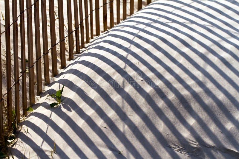 Strand-Zaun lizenzfreies stockfoto