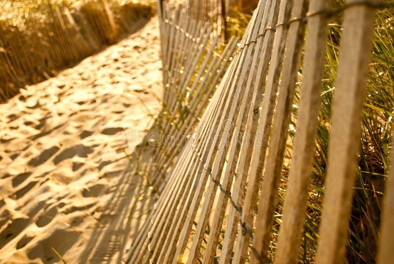 Strand-Zaun lizenzfreie stockfotografie