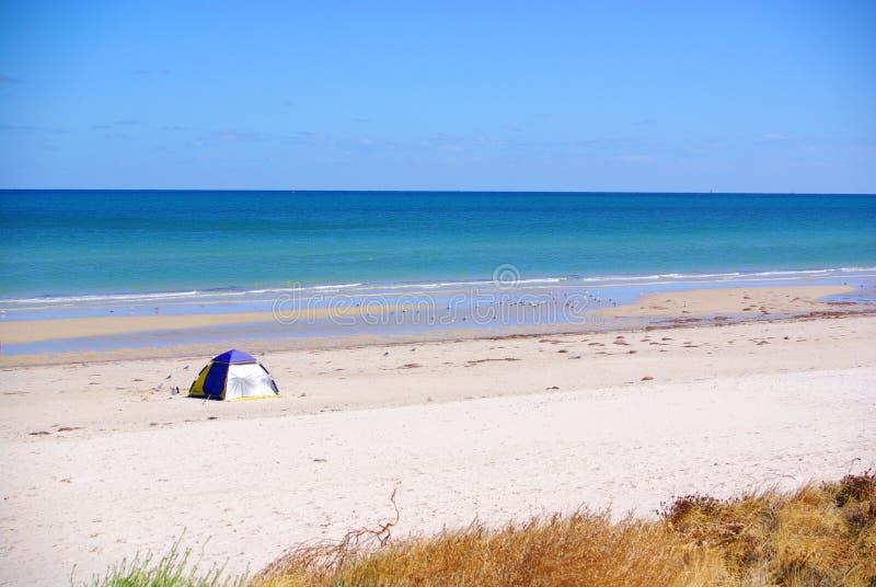 Strand-Zelt stockfoto