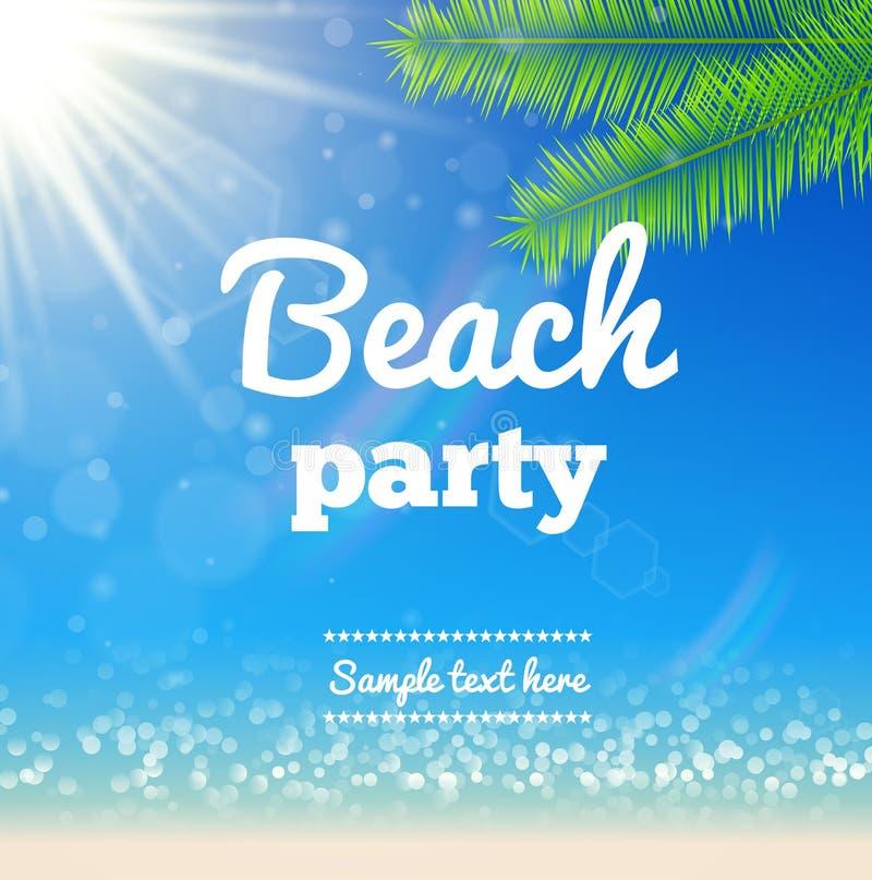 Strand zonnig Vectorontwerp als achtergrond stock illustratie