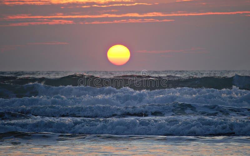 strand zonsondergang royalty-vrije stock afbeelding