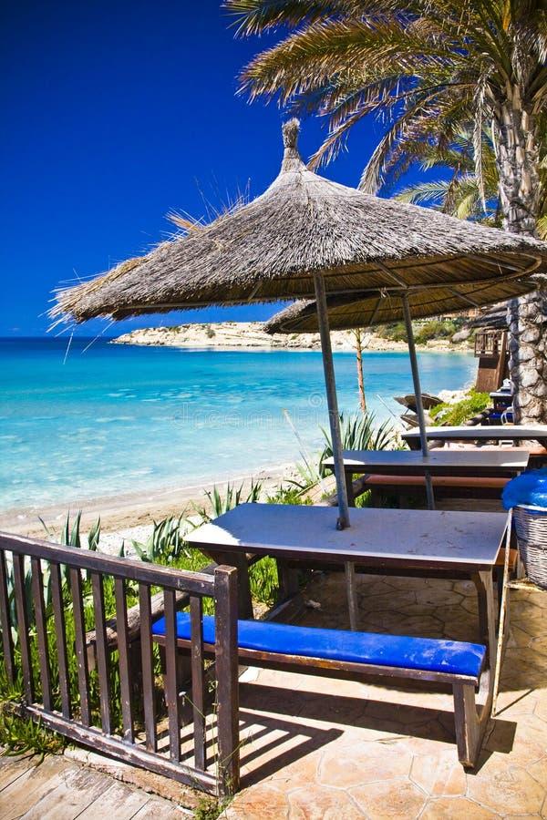 Strand in Zypern lizenzfreies stockbild
