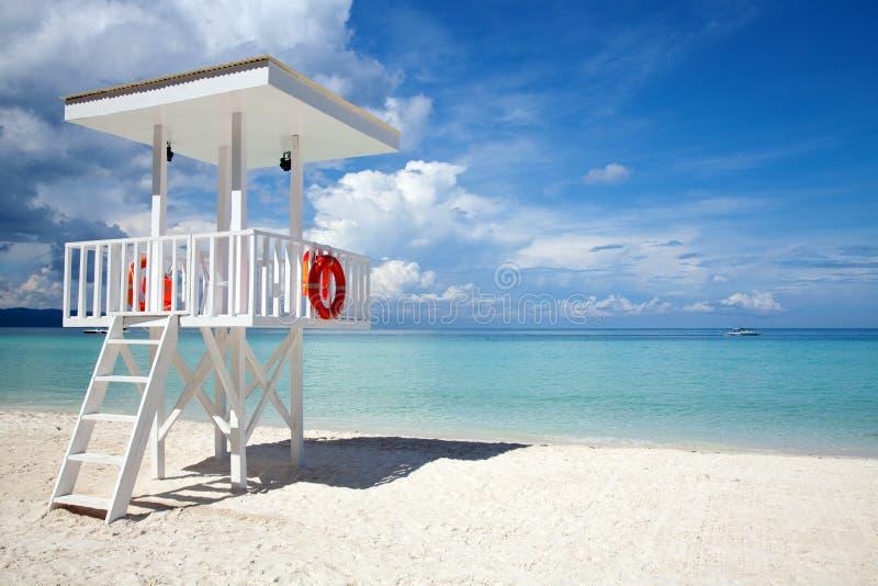 Strandabdeckungkontrollturm in Boracay stockbilder