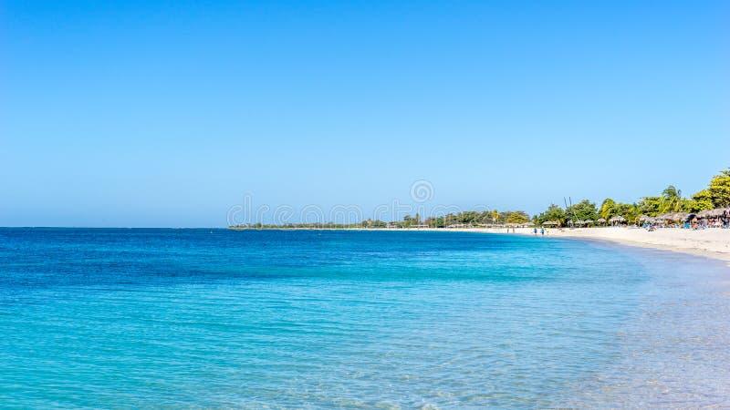 StrandAncon i Trinidad, Kuba arkivbild