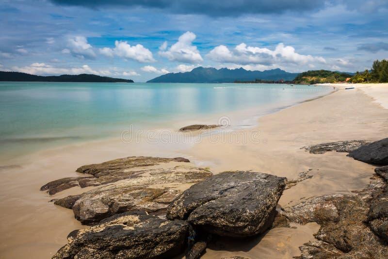 Strandansicht in Langkawi-Insel stockfotografie