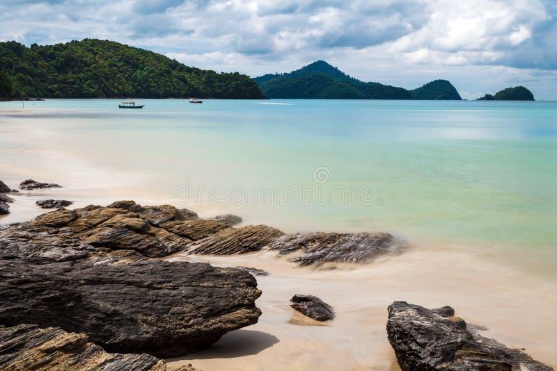 Strandansicht in Langkawi-Insel stockfotos