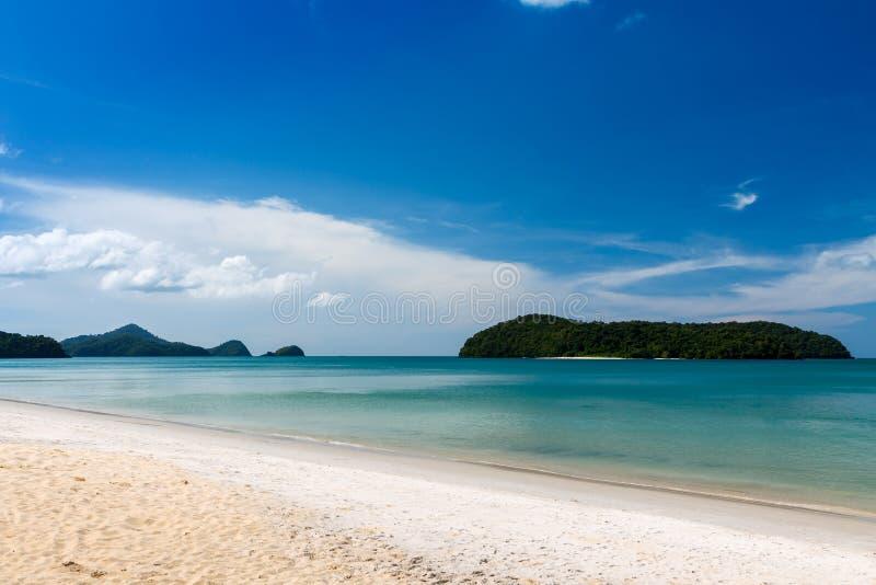 Strandansicht in Langkawi-Insel lizenzfreies stockfoto