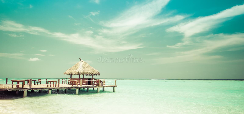 Strandaufenthaltsraum lizenzfreie stockfotos