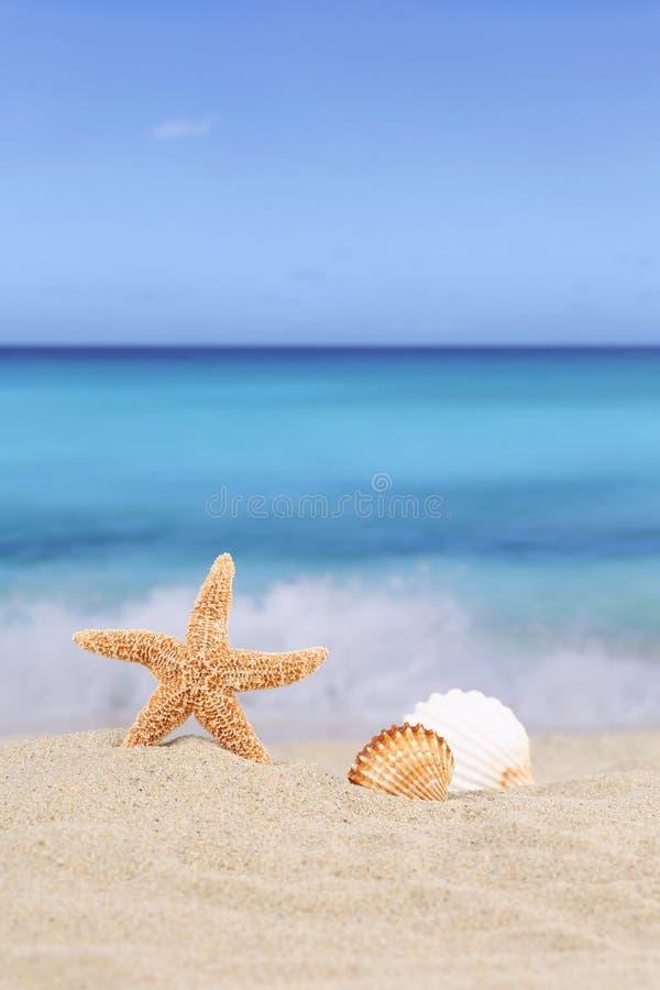 Strandbakgrundsplatsen i sommarsemester semestrar med havet och royaltyfri foto