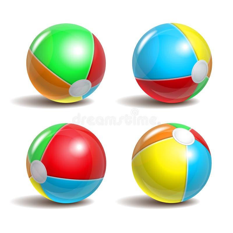 Strandballen stock illustratie