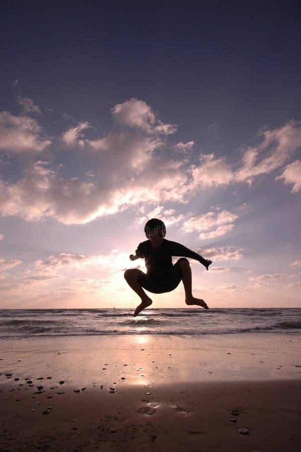 strandbanhoppning royaltyfria foton