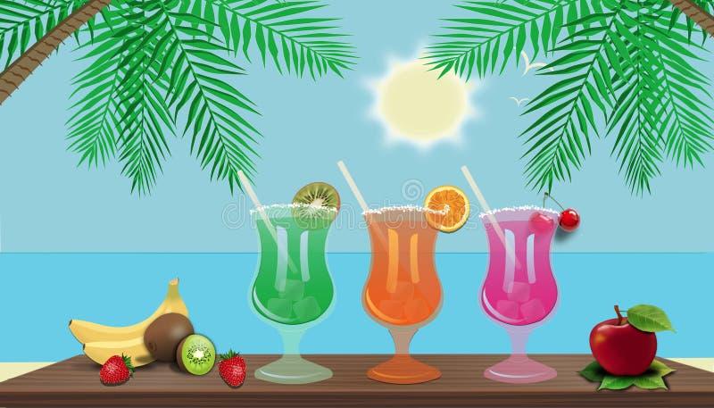 Strandbar in den Tropen lizenzfreie abbildung
