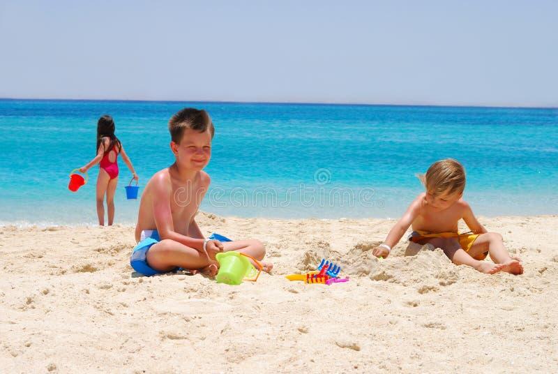 strandbarn royaltyfria foton